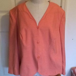 Emily orange blazer size 24 W